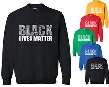 Black Lives Matter CREWNECK SWEATSHIRT Vintage Letters Sweater