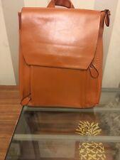 NICOLE & DORIS Italian crafted TAN  PU Leather backpack style fashion bag / NEW