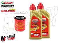 MF1844 - 2 LT OLIO CASTROL 5W40 FILTRO OLIO MALOSSI MOTORE VESPA 125 250 300 4T
