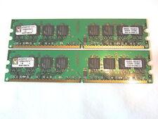 2gb = 2x1gb Kingston kvr8000d2n5/1g ddr2/800 pc2-6400 Memoria Memory Ram