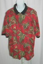 Clearwater Outfitters Parrot Head Hawaiian Christmas Polo Shirt Size 2XL (XXL)
