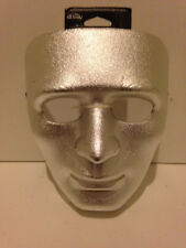Adult Drama Masks - Male - Lot of 6 - All Masks are Silver