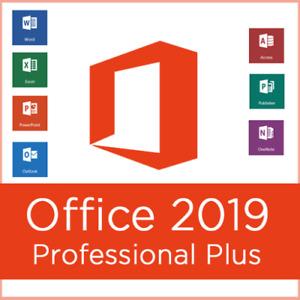 MICROSOFT OFFICE PROFESSIONAL PLUS 2019, 1 PC, KEIN ABO, RECHNUNG, ESD, DEUTSCH