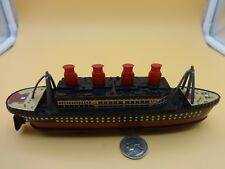 PlayGo Push & Go Tin Metal Pleasure Steamer Ship / Boat - Loose & Nice