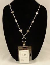New ID Badge Holder Necklace Lanyard With Angels & Hearts #Z2012
