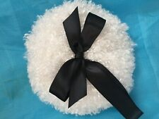 Luxurious Body powder puff with ribbon/bow, 6 inch puff