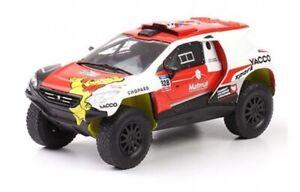 Peugeot 2008 DKR + 2016 Borsotto Rally Dakar coche 1:43 Ixo Salvat Diecast