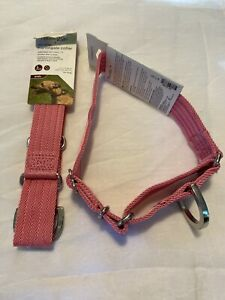 NEW petco 2 Martingale XL Dog Collar LOT No Slip PINK 1.5 W X 12 -18 In Good2go