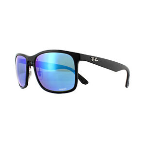 Ray-Ban Sunglasses RB4264 601SA1 Matte Black Blue Flash Polarized Chromance
