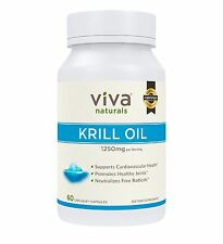 Krill Oil by Viva Naturals Supports Cardiovascular Health (60 Caplique Capsules)