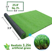 3.9'x6.6' Landscape Fake Grass Artificial Pet Turf Lawn Synthetic Mat Rug Green
