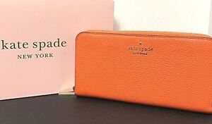 Kate Spade Leila Large Continental Wallet Clutch Coral Buds New