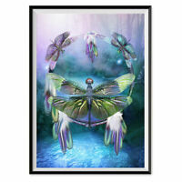 DIY 5D Full Drill cross stitch Kits mosaic Embroidery dragonfly diamond painting