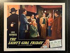 THE SAINT'S GIRL FRIDAY 1954 ORIGINAL LOBBY CARD - LOUIS HAYWARD