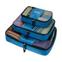 Rockland Unisex  3-Piece Packing Cube Set Blue Size OSFA