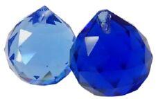 30mm Light Blue and Cobalt Ball Chandelier Crystals Prisms Suncatchers