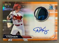 2019 Bowman Chrome ANDREW KNIZNER Auto Relic ORANGE /25 St Louis Cardinals RC SP