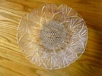SERVING PLATE Beautiful Crystal  with Raindrops Blending into Leaves