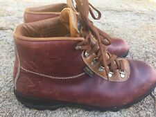 Men's Vintage Vasque Skywalk Sundowner Leather Hiking Boots Sz.11 Made in Italy