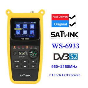 Original Satlink WS-6933 FTA LCD HD DVB-S2 Digital Satellite Meter 950~2150MHz