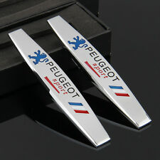 2pcs Car Metal chrome Fender Badges Emblems Decal Sticker For sports France NEW
