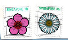 SINGAPORE stamps 1973 Flowers & plants. 2 stamps