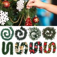 Christmas Wreath Rattan Garland With LED Light Home Door Window Hanging Decor AU