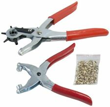 Am-Tech Leather Punch & Eyelet Plier Set - With 100pc Eyelets