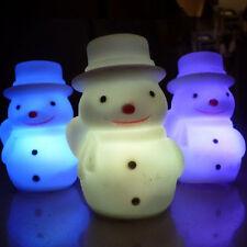 Neuf Chaud LED Eclairage Bonhomme De Neige Lumières Couleur Coloré Décor De Noël