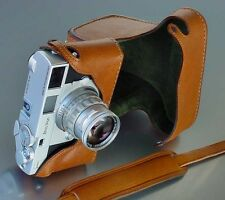 LUIGI's FULL CASE for ZEISS IKON ZM,w/LEICA M MOUNT,HAND STITCHED,STRAP INCLUDED