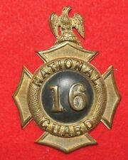 New listing Original I.W. Period N.Y. 16th National Guard Shako Plate