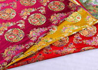 "1/2 YD 28"" CHINA RETRO CLASSIC DAMASK JACQUARD BROCADE FABRIC: FLOWER MANDALA -"