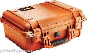 Peli 1450 Pelicase Orange with foam *BRAND NEW *