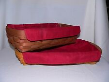 Longaberger Small Serving Tray or Bread Liner Only - Paprika - New