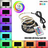 5V 5050 RGB LED Strip Light Colour Changing USB TV PC Back Mood Lighting+Remote