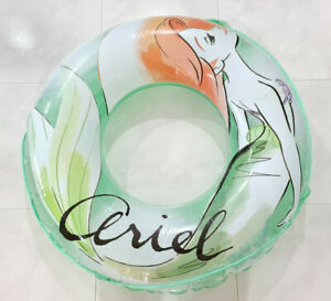Disney Princess Ariel Translucent Green Inflatable Swimming Ring Float 100cm