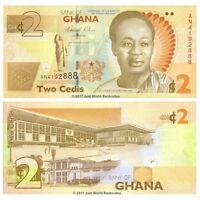 Ghana 2 Cedis  2010 P-37A  Banknotes UNC