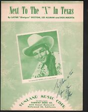 Next to the X in Texas 1950 Roy Rogers Sheet Music
