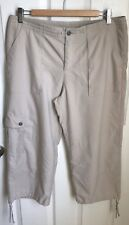 Patagonia Women's 10 Khaki Cropped Capri Pants Hiking Camping Polyester Nylon