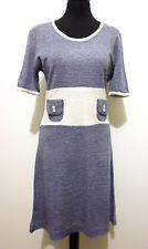 CULT VINTAGE '70 Abito Vestito Donna Bicolor Woman Jersey Dress Sz.S - 42