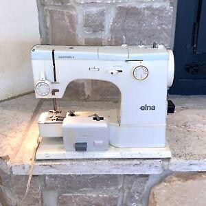 Working Elna Supermatic Made In Switzerland Vintage Sewing Machine + Foot Petal