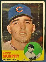 1963 Topps Baseball Card, #272 Danny Murphy, Chicago Cubs - VG