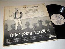 AUTOGRAPHED Joe Lewis AFTER PARTY FAVORITES Bar J-L Records