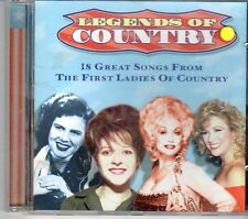 (DX258) Legends of Country, 18 tracks various artists - 1997 CD