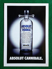 Pubblicità Advertising Cartolina vodka (Italy) ABSOLUT CANNIBALE n 299/5385