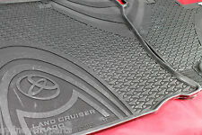 TOYOTA PRADO 150 FRONT RUBBER FLOOR MATS PAIR AUTO FROM AUG 13> NEW GENUINE