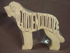NEW  GoldenDoodle  Dog Wooden Scroll Saw Toy Puzzle