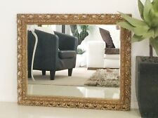 Antique Style Ornate Gold Wall Hanging Rectangle Mirror - 751