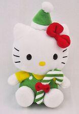 "TY Plush Hello Kitty Sanrio Doll Stuffed Cute Toy Christmas Candycane 5.5"" Tall"