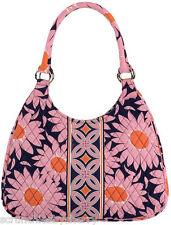 Vera Bradley Large Hobo Loves Me Purse Shoulder Bag Pink Orange Navy New